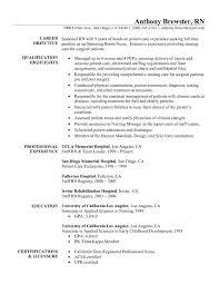 Resume Cover Letter Examples Of Registered Nurse Resume Free