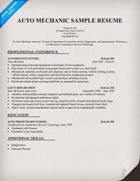 Resume Resume . Mechanic Resume [corybantic.us]. Free Printable