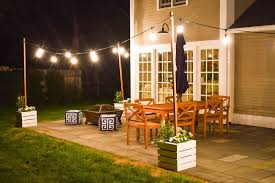 Patio Post Lights Diy Planter With Pole For String Lights At Charlottes House