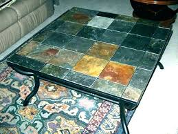 mosaic coffee table slate tile coffee tables mosaic coffee table tile top end tables slate outdoor