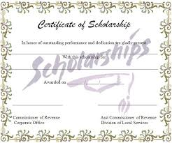 Scholarship Certificate Template Scholarship Certificate Template Graphics And Templates
