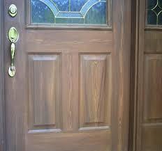 woodgrained door closeup of woodgrain door side view of door