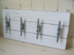 Boat Cleat Coat Rack Boat Cleat Coat Rack 1000x100 Distressed White 5