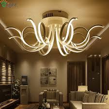 led chandelier lights. Modern Aluminum Bedroom Led Chandeliers Lighting Lustre Acrylic Living Room Dimmable Ceiling Chandelier Lights