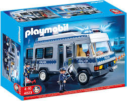 Playmobil City Action Police Van With Lights And Sound 6043 Playmobil 4023 Police Van With Police Officers Multi Coloured
