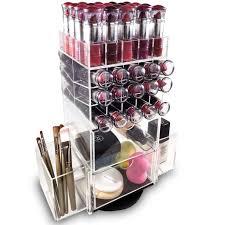 Acrylic Rotating Makeup Organizer Lipstick Rack Brush Holder | Nile Corp