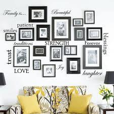 12 family e words vinyl wall decal