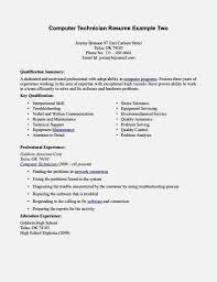 computer technician resume  resume sample format