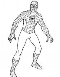 Spiderman Da Stampare E Dipingere Per Bambini