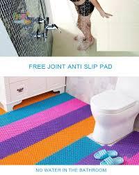 25Cmx25Cm 4Pcs Bathroom Mosaic Non Slip Mats Pvc Bath Floor Mat ...