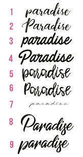 Fonts Typing Lettering Tattoo Paradise Inspirational Tattoos
