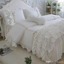 showy ruffle linen duvet cover