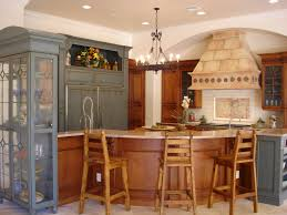 modern kitchens 2013. Appealing Colonial Spanish Style Kitchen With Round Wood Table And Distressed L Shaped Cabinet Design Ideas Modern Kitchens 2013 O