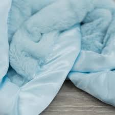 Light Blue Baby Blanket Light Blue Plush Satin Border Baby Blankets