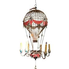 1930s vintage hot air balloon tole chandelier chairish in idea 14