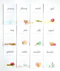 Calendar Month Cards Blank Template 2015 Yearly Printable Templates