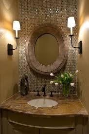 Accent Wall Bathroom Powder Room Design Wood And Stone Collaboration Accent Wall Brown