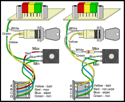 uni egret wiring options qd electric motor control a battery condition indicator can simply be wired between the top pin and the green wire to the pot this is shown left above