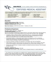 Example Medical Assistant Resume Simple 48 Medical Assistant Resume Templates PDF DOC Free Premium