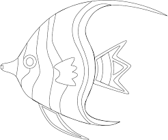 Small Picture Angelfish coloring page Animals Town animals color sheet