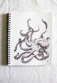 Small Picture Octopus drawing Octopus Pinterest Tattoo Sketchbooks and Kraken