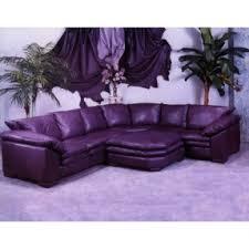Purple leather furniture