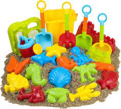 Amazon.com: 23pc Kids Beach Toys Set, Sandbox Toys; Sand Toys: Toys & Games