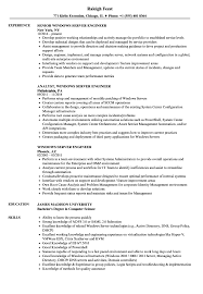 Windows Server Engineer Resume Samples Velvet Jobs