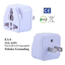 international plug adapter power adapters ungrounded us plug adapter schuko ground prev