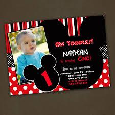 mickey mouse st birthday custom invitations spectacular mickey mouse 1st birthday invitations