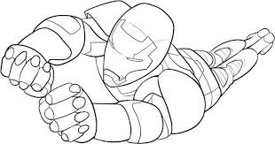 Small Picture Free flying iron man coloring page Boys pages of