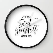 Thank You Black And White Printable Printable Please Seat Yourself Thank You Wall Art Funny Bathroom Wall Art Prints Wall Clock