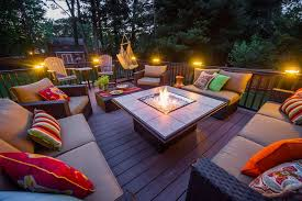 atlanta fireplace specialists stoll fireplace for a contemporary deck with a fire feature and patios and decks by razzano
