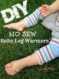 diy no sew baby leg warmers