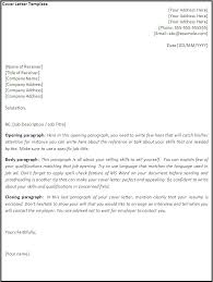 Cover Letter Template Open Office Cover Letter Template Download