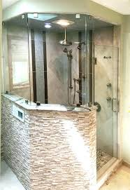 half wall shower glass half wall shower glass charming bathtub doors panels wall mounted glass shower