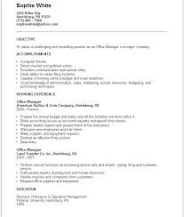 Office Position Resume Front Office Manager Resume Format Topgamers Xyz