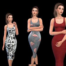 Leo 4 Sims: Monique Dress • Sims 4 Downloads | Sims 4, Sims, Sims 4  collections
