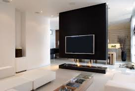Modern Living Room With Fireplace Linear Elegance Modern Living
