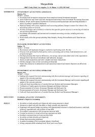 Assistant Accountant Resume Sample Investment Accounting Resume Samples Velvet Jobs 17