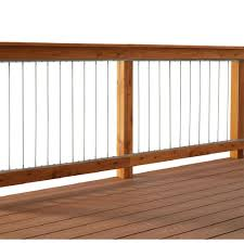 steel cable railing. Vertical Stainless Steel Cable Railing Kit For 42 In. High Railings-90642 - The Home Depot E