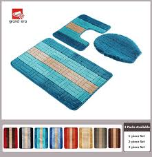 grand era 3 piece bathroom rug polypropylene fiber mat set and contour rug set 19 7