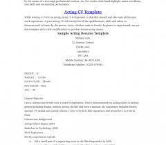 Resume Examples No Experience Unique Acting Resume Example Template Examples No Experience 87