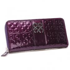 Coach Logo Monogram Large Purple Wallets CHN