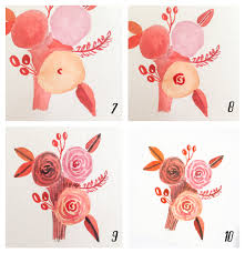 Easy Floral Designs To Paint An Easy Way To Paint Rose Blooms With Video Surely Simple
