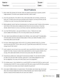 systems word problems worksheet as well better math worksheets step 8 new solving of equations