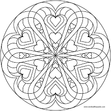Small Picture Heart mandala to color there is both a 100 ppi jpg version and a