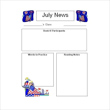 Teachers Newsletter Templates Printable Newsletter Templates Free For Teachers Blank