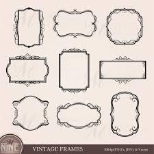 Vintage frame border Circle Image Etsy Frame Clip Art Vintage Frames Borders Clipart Etsy