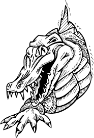 Small Picture Coloring Pages Angry Crocodile Alligator Coloring Page